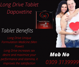 Long Drive Tablet Dapoxetine (60mg) 3 Pack 12 tablet
